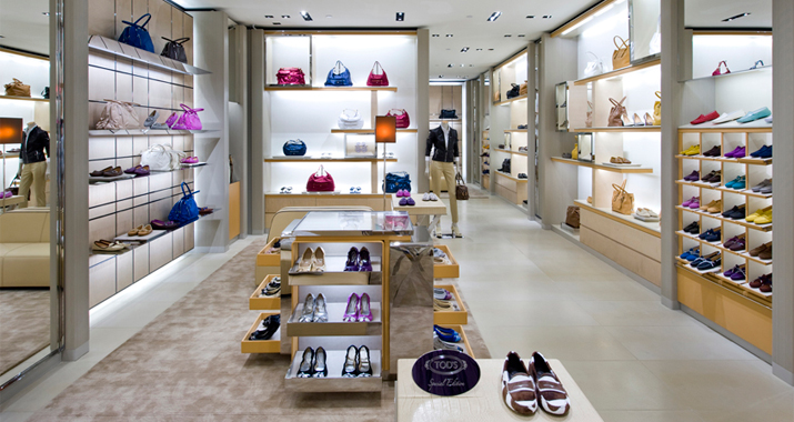 ZAG worked with Tod's to open their 3,000 square foot boutique, built in only eight short weeks.